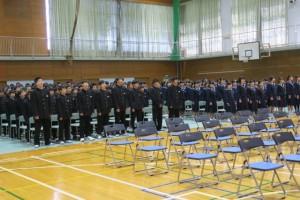 3月13日卒業式の予行が行われました。